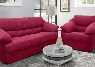 Trosed i fotelja roze boje