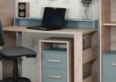 kancelarijski nameštaj sivo bele boje