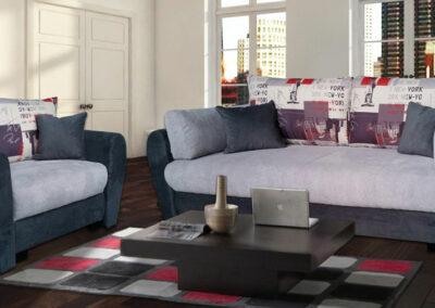 Garnitura u ljubičastoj boji različitih nijansi