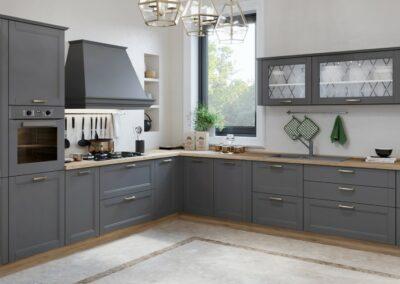 Moderna kuhinja Tara u sivoj boji