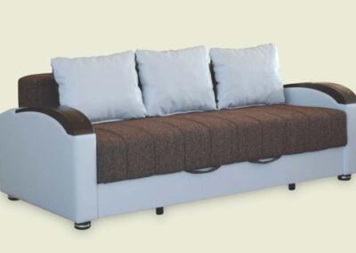 Moderni sivo-braon kauč na razvlačenje Bobi P