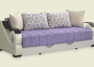 Moderni ležaj Dali sa šarenim jastucima