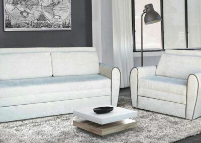 Beli dvosed i fotelja