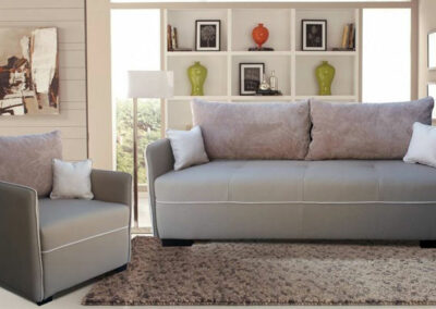 Garnitura sastavljena od kauča i fotelje